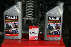 Yamaha Raptor oil and oil filter