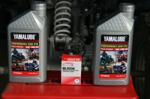 Yamaha Raptor oil and oil filter