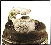 spark plug deposits